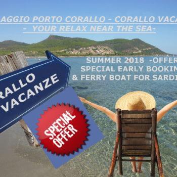 Offre Spéciale Sardaigne – Villaggio porto corallo