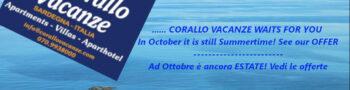 October offers Porto Corallo – Sardinia