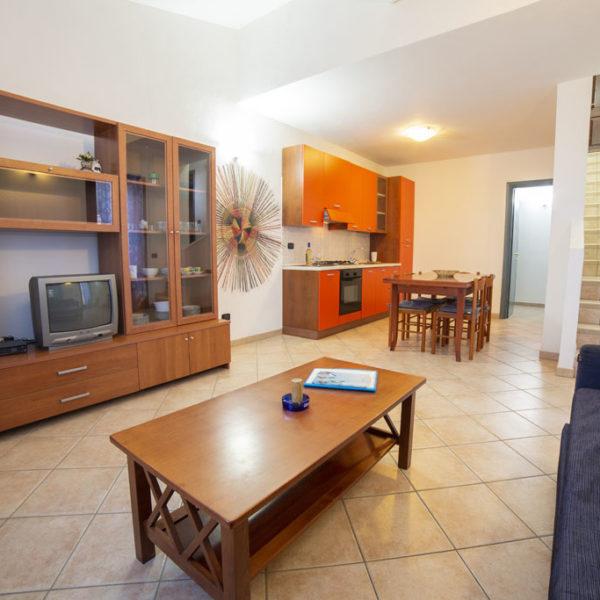 cucina soggiorno ville corallo vacanze
